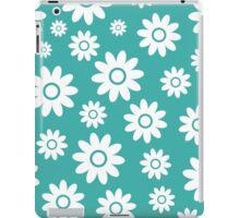 Teal Fun daisy style flower pattern iPad Case/Skin