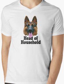 German Shepard: Head of Household Mens V-Neck T-Shirt