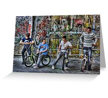 Group of BMX bikers Greeting Card