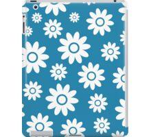 Blue Fun daisy style flower pattern iPad Case/Skin
