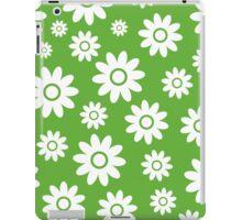 Grass Green Fun daisy style flower pattern iPad Case/Skin