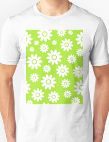 Lime Green Fun daisy style flower pattern T-Shirt