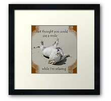 Could you use a smile Framed Print