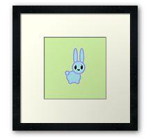 bold kawaii rabbit Framed Print