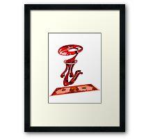dolar rojo Framed Print