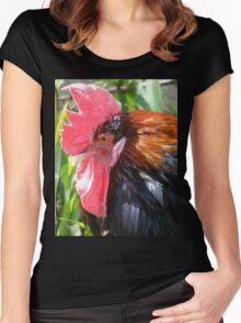 cockerel Women's Fitted Scoop T-Shirt