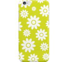 Chartreuse Fun daisy style flower pattern iPhone Case/Skin