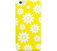 Yellow Fun daisy style flower pattern iPhone Case/Skin
