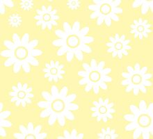 Cream Fun daisy style flower pattern by ImageNugget