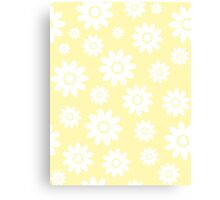 Cream Fun daisy style flower pattern Canvas Print