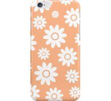 Peach Fun daisy style flower pattern iPhone Case/Skin