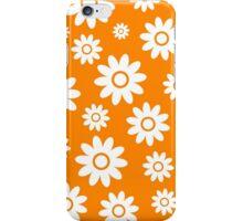 Orange Fun daisy style flower pattern iPhone Case/Skin