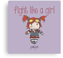 Fight Like a Girl   Robot Maker Canvas Print