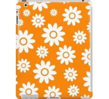 Orange Fun daisy style flower pattern iPad Case/Skin