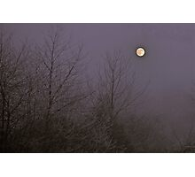 twas a moonlit, cold and misty afternoon. Photographic Print