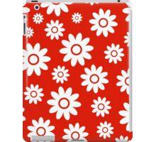 Red Fun daisy style flower pattern iPad Case/Skin