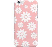 Light Pink Fun daisy style flower pattern iPhone Case/Skin