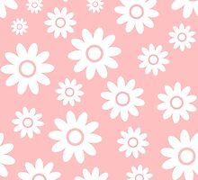 Light Pink Fun daisy style flower pattern by ImageNugget