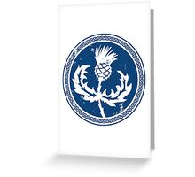 Thistle & Braid - Blue Greeting Card