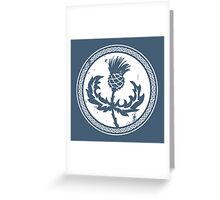 Thistle & Braid - White Greeting Card