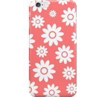 Pink Fun daisy style flower pattern iPhone Case/Skin