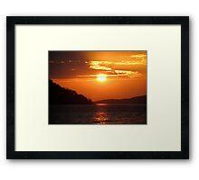 Sunset over Lake Malawi Framed Print