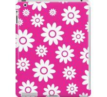 Hot Pink Fun daisy style flower pattern iPad Case/Skin
