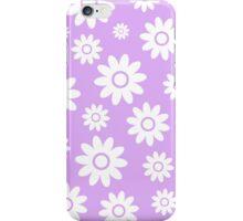 Lilac Fun daisy style flower pattern iPhone Case/Skin