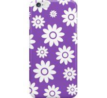 Light Purple Fun daisy style flower pattern iPhone Case/Skin