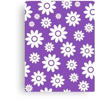 Light Purple Fun daisy style flower pattern Canvas Print