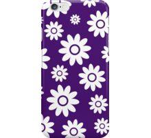 Purple Fun daisy style flower pattern iPhone Case/Skin