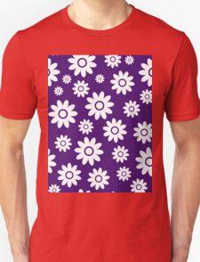 Purple Fun daisy style flower pattern Unisex T-Shirt