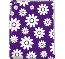Purple Fun daisy style flower pattern iPad Case/Skin