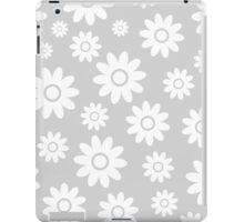 Light Grey Fun daisy style flower pattern iPad Case/Skin