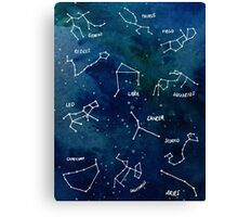 Star Signs Canvas Print