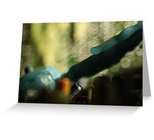 Macro wax - lens flare Greeting Card