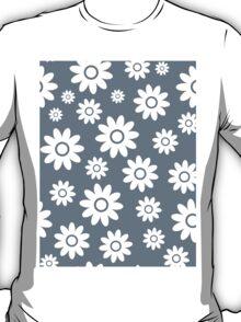 Cool Grey Fun daisy style flower pattern T-Shirt
