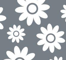 Cool Grey Fun daisy style flower pattern Sticker