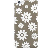 Warm Grey Fun daisy style flower pattern iPhone Case/Skin