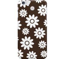 Chocolate Fun daisy style flower pattern iPhone Case/Skin