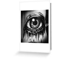 A dead eye Greeting Card