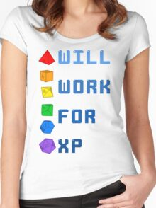 Will work for XP Women's Fitted Scoop T-Shirt