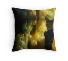 Macro wax - drips Throw Pillow