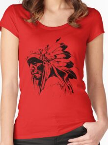 indian apache Women's Fitted Scoop T-Shirt