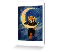 Red Panda Stars Greeting Card