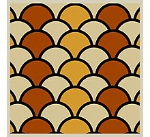 Vintage Retro Polkadot Brown Pattern Photographic Print