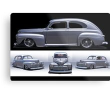 1947 Ford Deluxe 8 Custom Sedan Metal Print