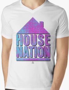 House Nation T-Shirt Mens V-Neck T-Shirt