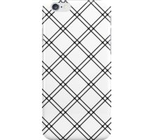 Black and White Modern Plaid Pattern iPhone Case/Skin
