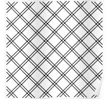 Black and White Modern Plaid Pattern Poster